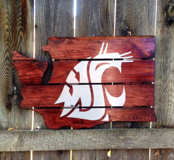 Recycled Pallet Washington State Cougars....Robby would love this