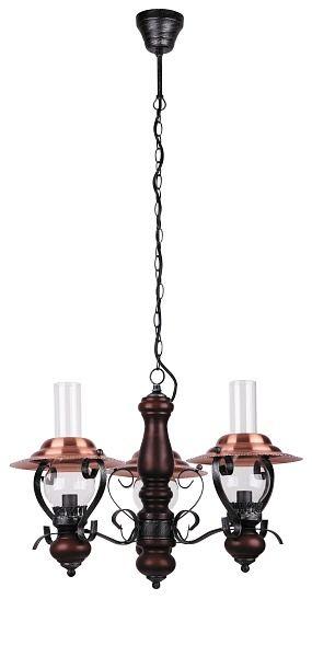 ENNA - rustikálny luster - orech+čierna+bronz - ø 500mm