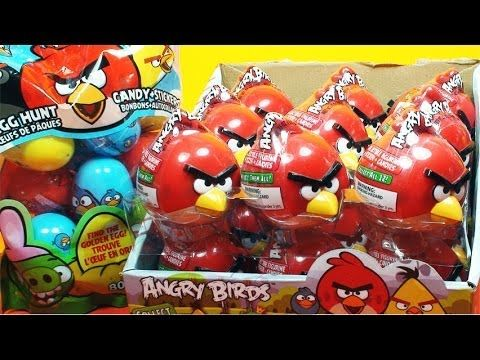 Angry Birds 10 Surprise Egg Toys Stickers and Figures Red Bird Rivo - DisneyToyCollector!  Join me as I unwrap these awesome Angry birds surprise toys!  Each red bird toy contains a bag of candy, a unique sticker, and a surprise toy.   Each of these toys cost about 3.99 to 6 dollars depending on the store. It can also be purchased online.