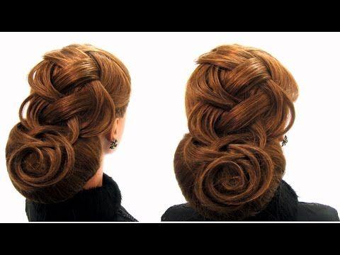 Вечерняя прическа. Праздничная прическа. Holiday hairstyle - YouTube