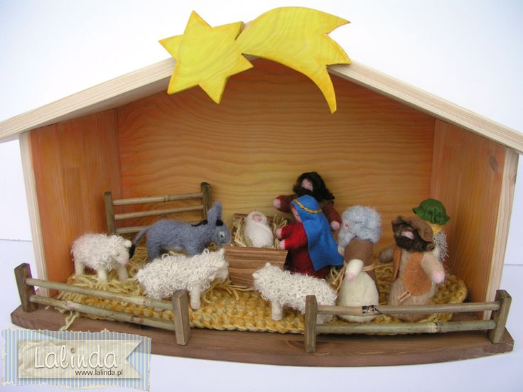 Filcowa szopka bożonarodzeniowa