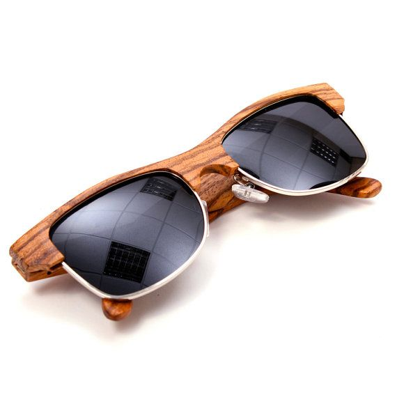 zebra wood half frame sunglasses on etsy 7898