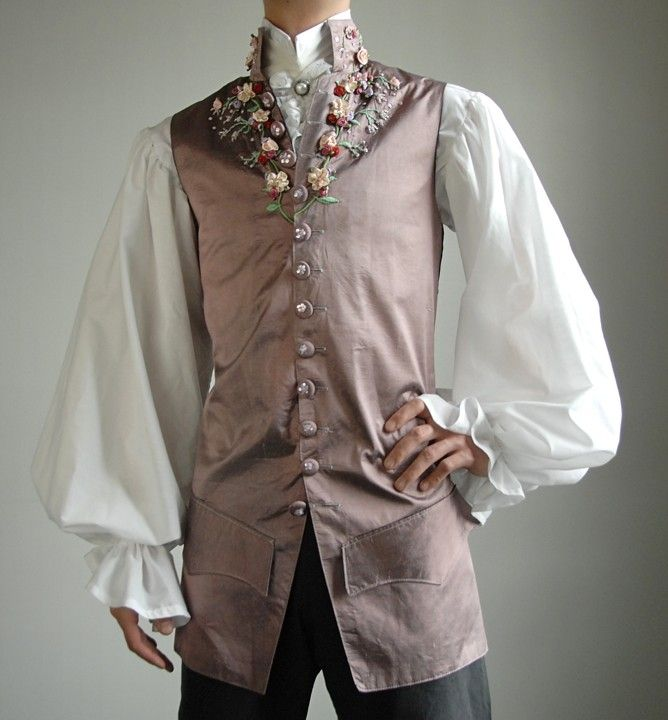18th century waistcoat.  And how to embroider one.