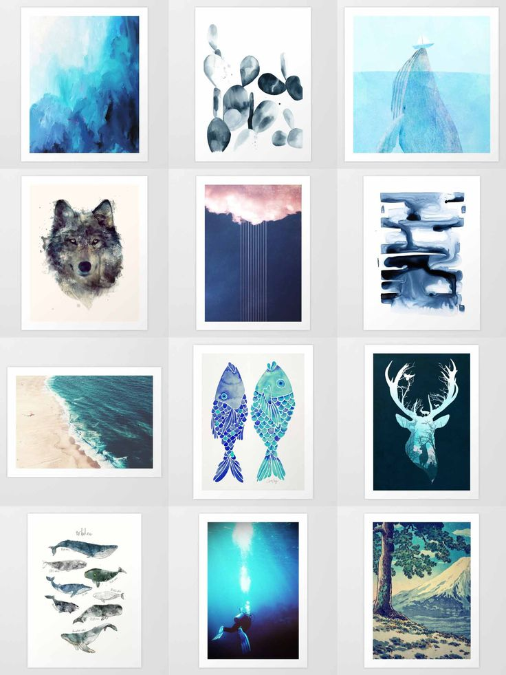 Society6 Blue Art Prints - Society6 is home to hundreds of thousands of artists from around the globe, uploading and selling their original works as 30+ premium consumer goods from Art Prints to Throw Blankets. They create, we produce and fulfill, and every purchase pays an artist.