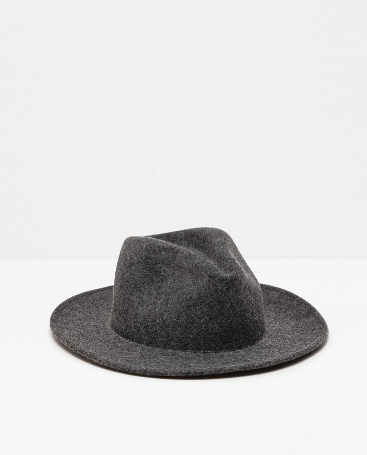 Image 1 of FELT HAT WITH WIDE BRIM WITHOUT RIBBON from Zara