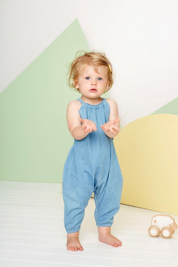 Cutie Playsuit Chambray by Baobab Clothing ⌇ Juniors Design Blog ⌇ www.juniorsdesignblog.com