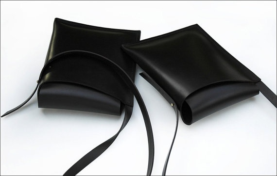 Leather Shoulder Satchel by Debruir.