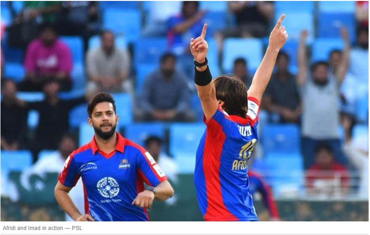 Afridi and Imad in action — PSL. Line-ups. A pair of half centuries by Joe Denly and Babar Azam coupled with a vintage Shahid Afridi bowling spell helped Karachi Kings defeat Multan Sultans by 63 runs in the 22nd fixture of the Pakistan Super League 2018 in Dubai on Saturday. After Multan Sultans won ..