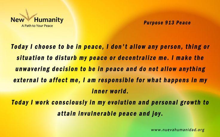 Purpose 913 Peace