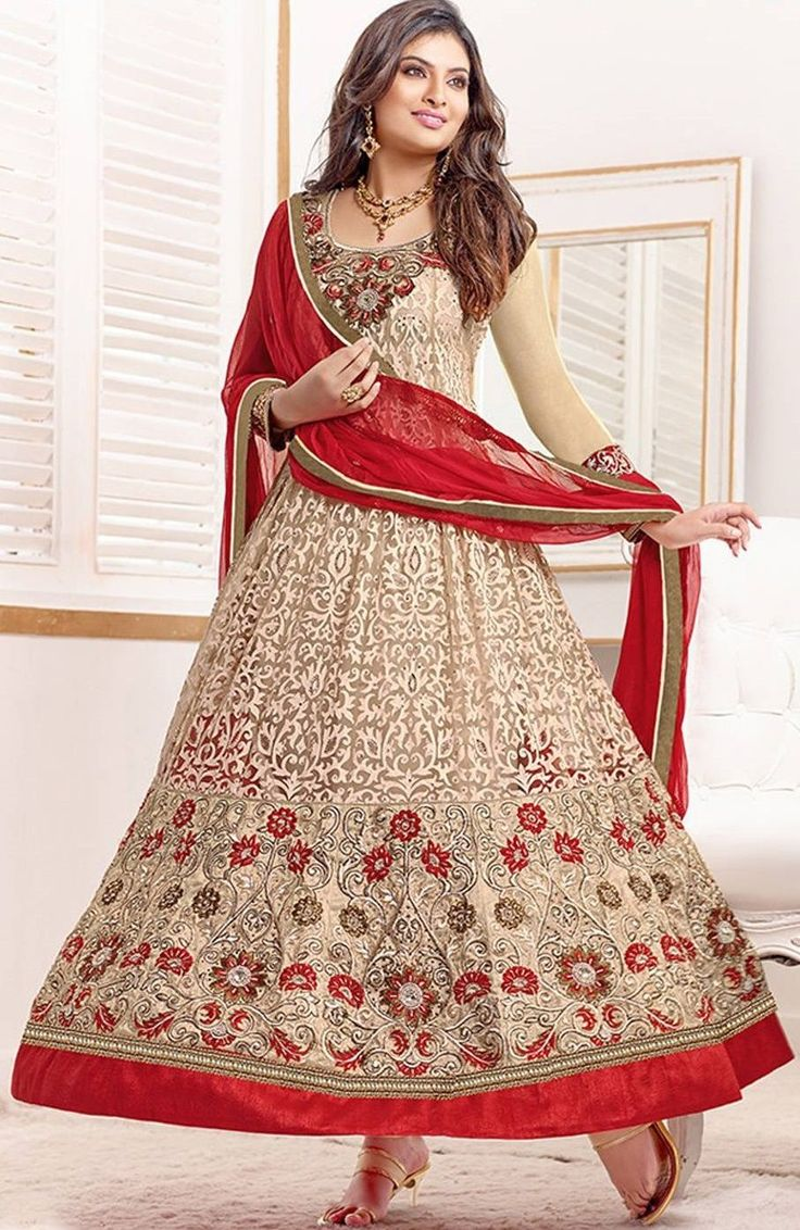 Red heavy bridal anarkali frock 7 suitanarkali in - Anarkali Salwar Suit Indian Pakistani Designer Bollywood Wear Ethnic Party Dress Indian Fashion Pinterest Pakistani Designers