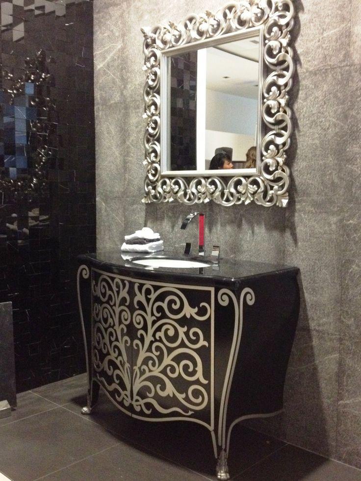 Bathroom Mirrors Brushed Nickel Frame bathroom wall mirrors. 650 x 900 mm rectangular bevelled designer