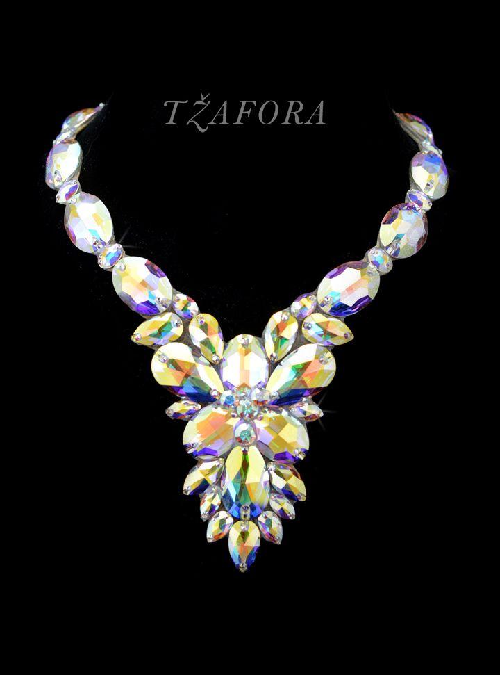 """Prelude to a Kiss"" - Swarovski ballroom necklace. Ballroom dance jewelry, ballroom dance dancesport accessories. www.tzafora.com Copyright © 2016 Tzafora."