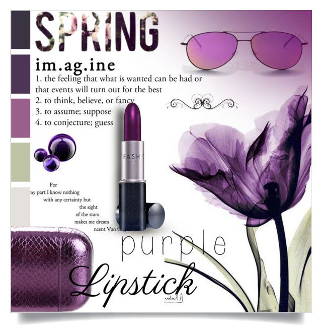 """""""Beauty Trend We Love: Purple Lipstick"""" by lacas ❤ liked on Polyvore featuring beauty, Illesteva, KOTUR, Fashion Fair and purplelipstick"""