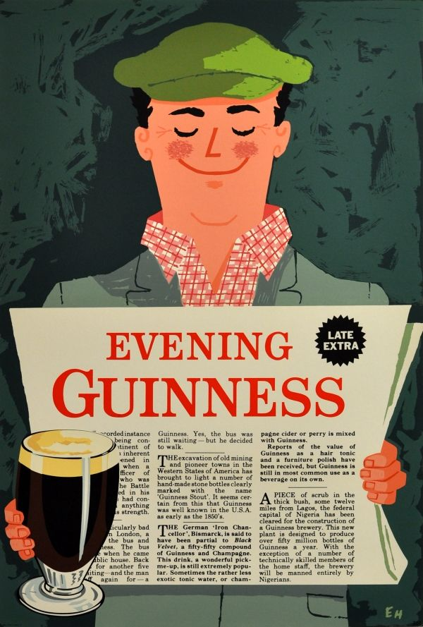 Original Vintage Posters -> Advertising Posters -> Evening Guinness - AntikBar