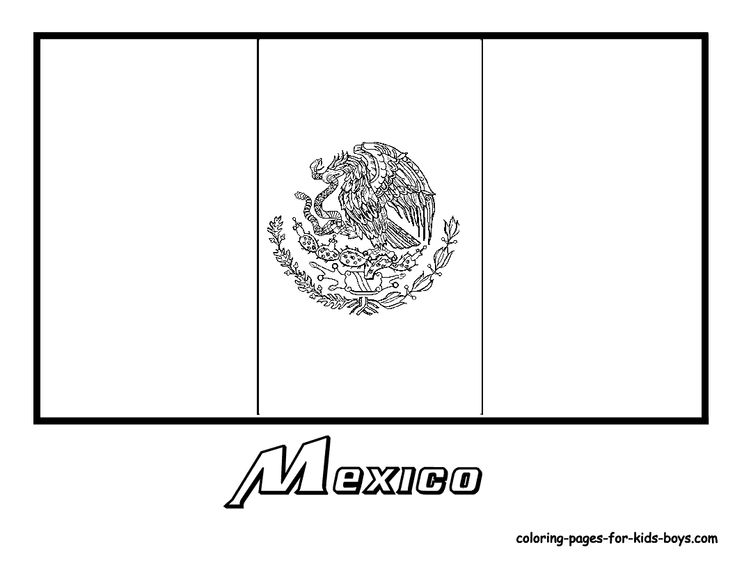Mexico Flag Coloring Pages Kids