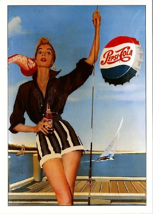 Old Pepsi ad re-pinned by http://www.wfpblogs.com/category/nicoles-blog/ ♥´¯`•.¸¸.☆