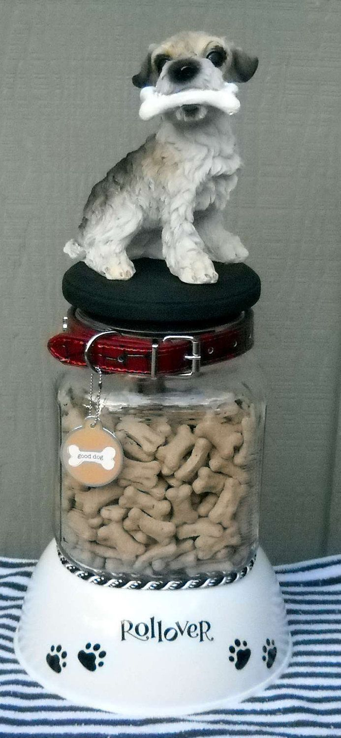 Dog treat jar canister by KellysCraftCreations on Etsy