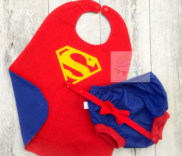 Superman Cape Combo Cake Smash Outfit