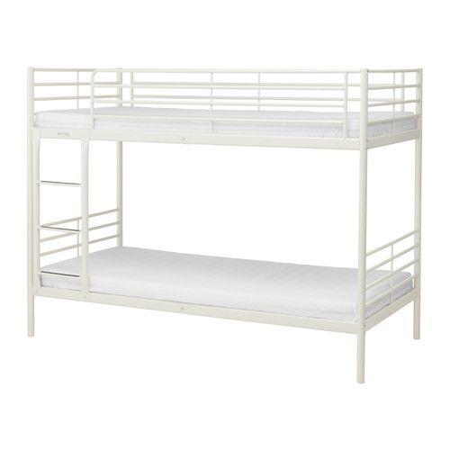IKEA - SVÄRTA, Estrutura beliche, , Uma boa solução quando não há muito espaço.A escada pode ser montada à direita ou à esquerda da cama.