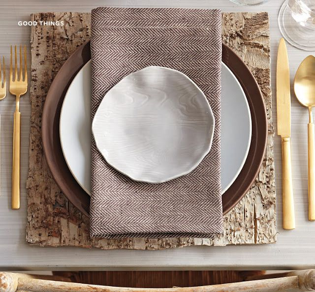 Table setting inspo - love this!