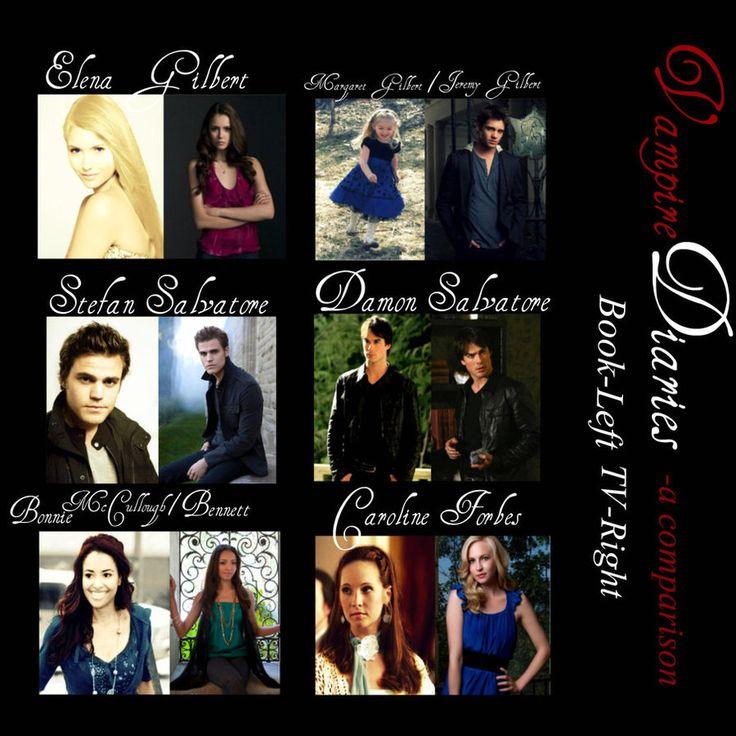 Výsledok vyhľadávania obrázkov pre dopyt vampire diaries comparison book and series
