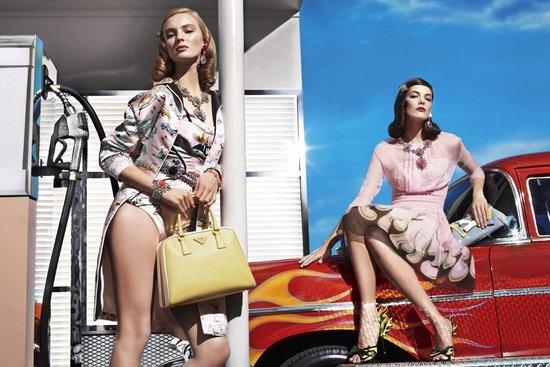 Prada Spring 2012 Ad Campaign  Ymre Stiekema, Katryn Kruger by Steven Meisel