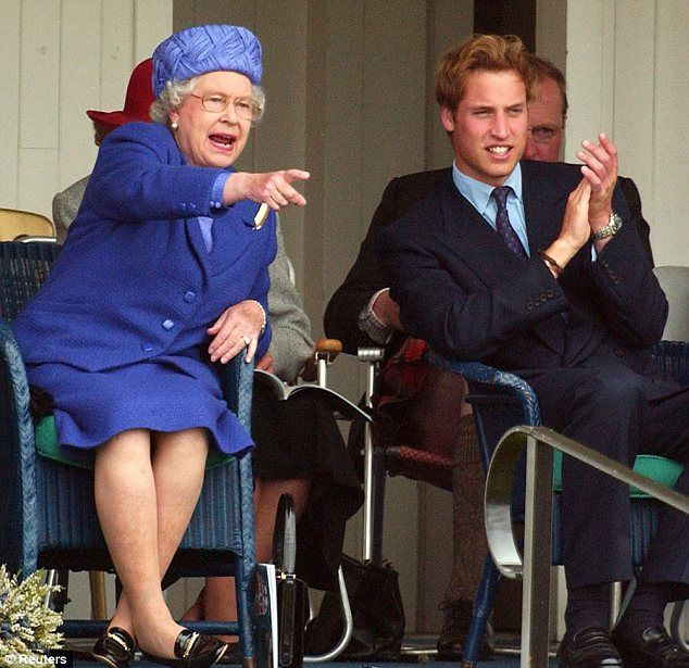 Queen Elizabeth and Prince William pictured together at the Highland Games in 2006