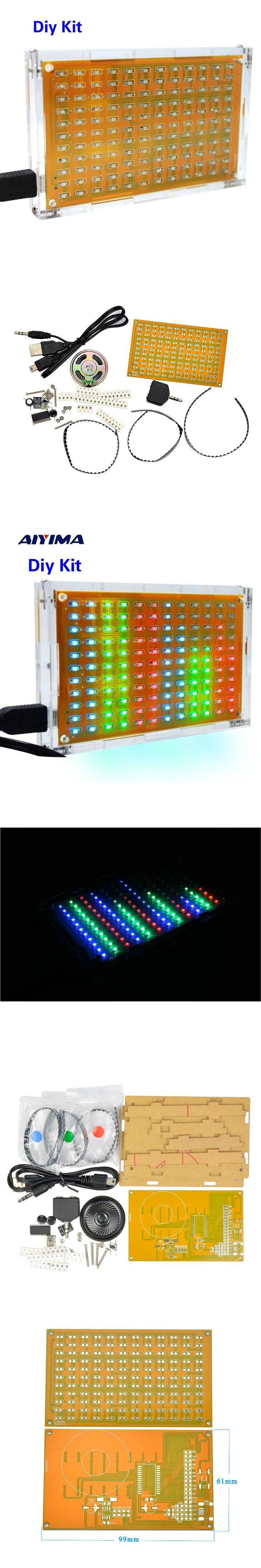 LED Music Spectrum Analyzer Audio Level Meter /MP3 PC Amplifier Audio Indicator Diy Kits