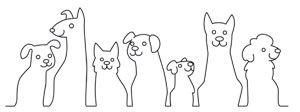 Simple, cute, and zany! A single line makes up an adorable row of silhouette puppies. Downloads as a PDF. Use pattern transfer paper to trace design for hand-stitching.