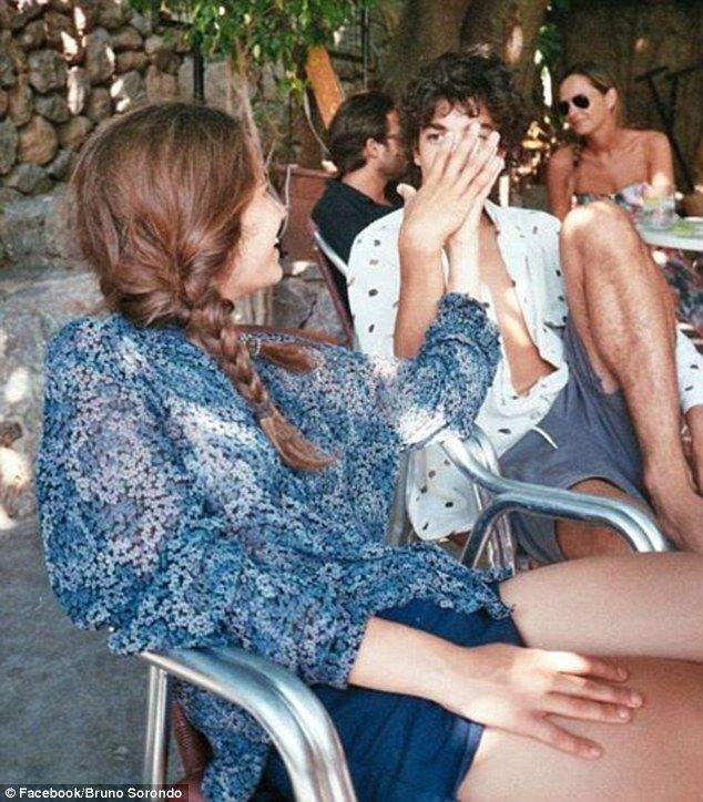 Close: The orphaned teen, full name Heavenly Hiraani Tiger Lily Hutchence Geldof, seemed smitten by Sorondo