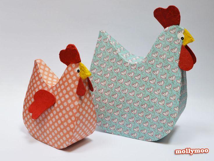 How to Make Paper Mache Chicken Crafts