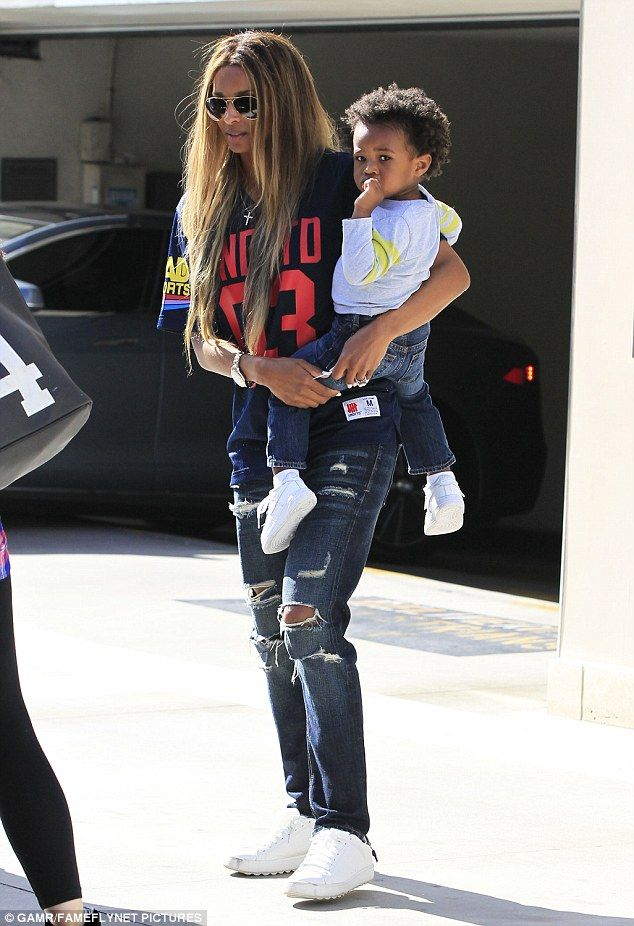 Back to reality: Ciara, her son Future Jr. and THAT ring were spotted out and about in Los...