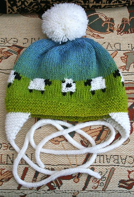 Adorable sheep baby hat...free pattern on Ravelry!
