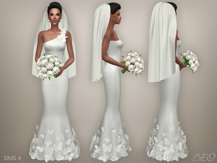 Wedding veil 03 for The Sims 4 by BEO