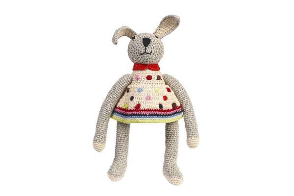 SOURIS / LAPIN Doudou  SOURIS / LAPIN Crochet fait main  Coton organique 28x10cm Prix : 50 €