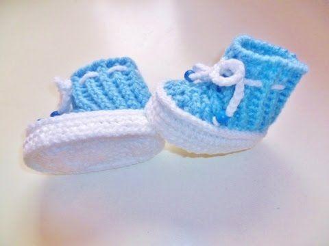 Babyboots häkeln - Babyschuhe - crochet - Boots - Schuhe - Baby - Babyso...