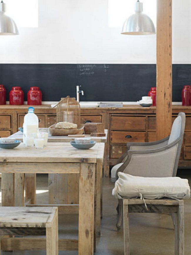 Salvaged Kitchen Cabinets Primitive Teak Tables