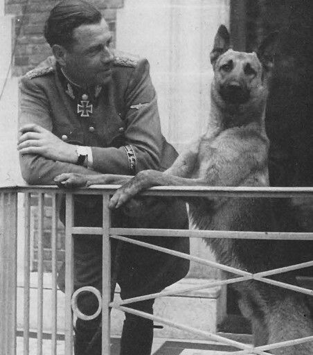 Fritz Witt on his 37th Birthday (which would be his last) with his faithful dog 'Bulli'.