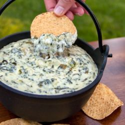 SPINACH AND ARTICHOKE DIP 8oz cream cheese (reduced fat is ok) 16