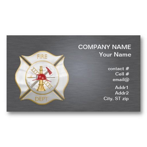 20 best fire department business cards images on pinterest silver maltese firefighting cross business cards colourmoves