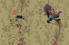 Scottish textile and wallpaper design studio Timorous Beasties Birds and Bees fabric, Roskin collection