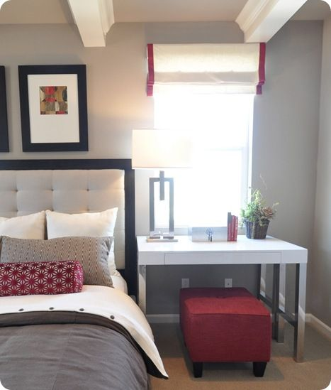 Pop Art Bedroom Accessories Color Schemes For Girls Bedroom Grey Bedroom Door Bedroom Nightstand Decorating Ideas: 10 Best Images About Desk As Nightstand On Pinterest