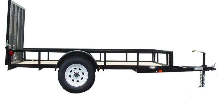 Leonard Utility Trailer Low Side Single Axle Model 152