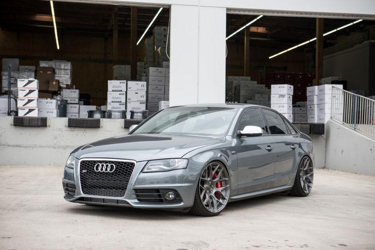 Vehicle: Audi B8 S4 Wheels: Avant Garde M590 Sizing: 20x10 square Finish: Brushed Grigio