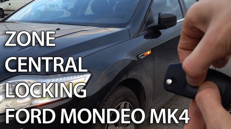 How to activate #Ford #Mondeo MK4 zone central locking selective unlocking #safety #cars