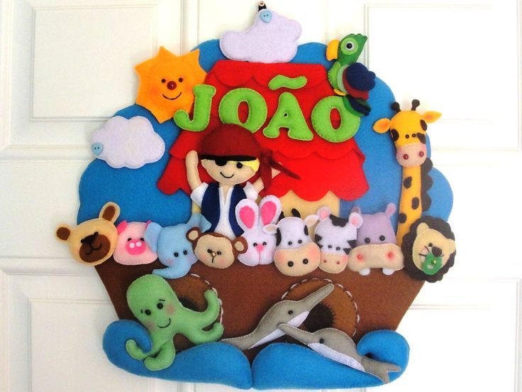 Personalized felt handmade wall hanging. by DMLcraft on Etsy