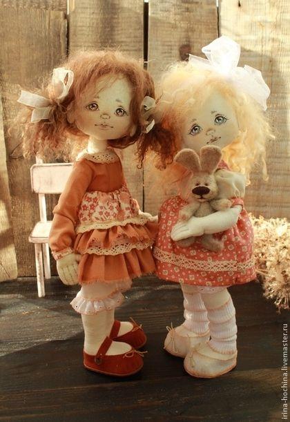 Старшая и младшая - коричневый,кукла,кукла ручной работы,кукла в подарок