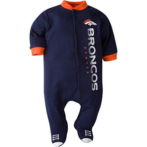NFL Denver Broncos Logo Panel Snap Sleep N Play Sleepwear 69 Months Blue *** Continue to the product at the image link.