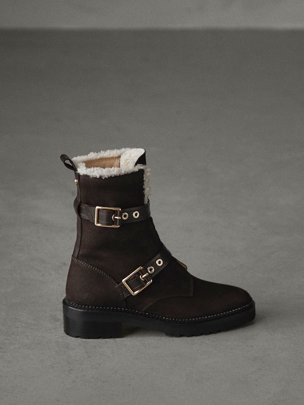 80c59b28056 Winter capsule nubuck buckled ankle boots   My Style   Buckle ankle ...