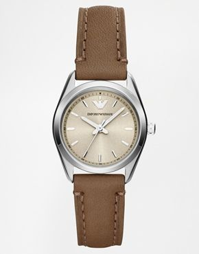 Emporio Armarni Tazio Taupe Leather Watch